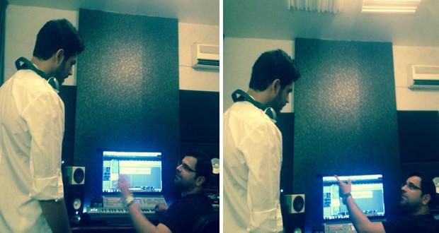 بالصور: زكي شريف في الإستوديو مع صلاح الكردي ويحضّر لأعمال جديدة
