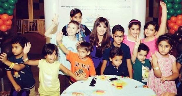 بالصور: ديانا حداد برينسيسة الإنسانية والتواضع زارت أطفال التوحّد