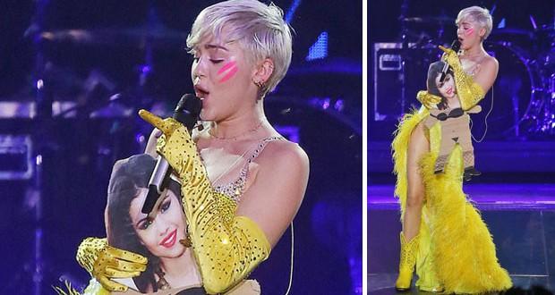 بالصورة والفيديو: Miley Cyrus تسخر من Selena Gomez