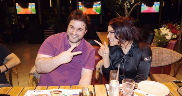 بالصور: بين أحلام، ملحم زين وزوجته الشيخة تماني صداقة مميّزة وعشاء في بيروت