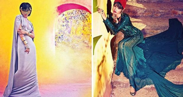 متابعة بتجرد: Rihanna بأزياء عربيّة مع Harper's Bazaar Arabia