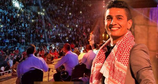 بالصور: محمد عساف أشعل إفتتاح مهرجان جرش وحضور فاق كل التوقعات