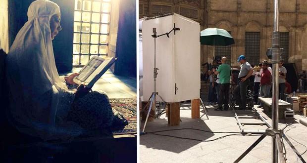 """بالصور: أصالة تصوّر """"بَحبُه"""" للشهر الفضيل في مسجد الحاكم بأمر الله"""