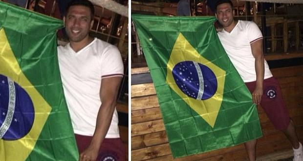 بالصورة: حسن الرداد يشجّع البرازيل وهكذا إحتفل بفوز منتخبها
