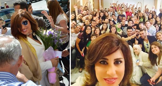 نجوى كرم وصلت الأردن وسط حشود جماهيرية ولأوّل مرّة Selfie مع عشاقها