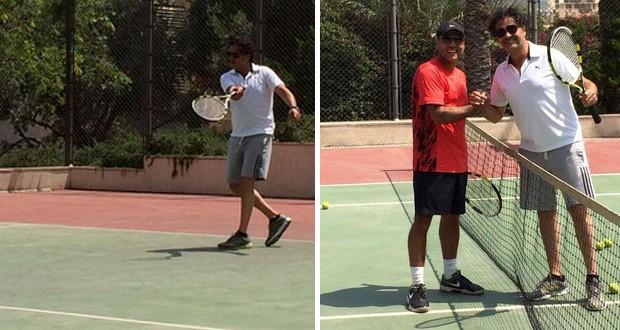 بالصور: راغب علامة ويوم مميّز لـ لعبة الـ Tennis