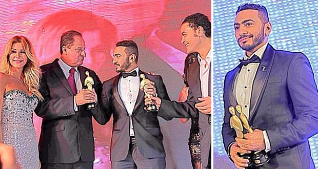 تامر حسني الأفضل عربياً ، كرّم في وطنه مصر وسرق الأنظار في الـ Middle East Music Awards