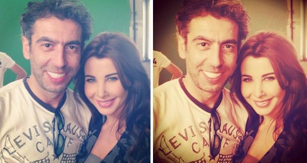 بالصورة: نانسي عجرم صوّرت إعلان جديد مع سعيد الماروق