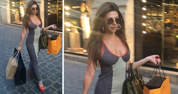 بالصورة: ميريام فارس تتسوق وتسرق الأنظار في شوارع بيروت