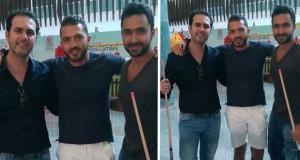 بالصورة: وائل جسار ومباراة Billiard مع أصدقائه، فهل فاز؟
