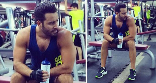 """بالصورة: سعد رمضان يستعرض عضلاته المفتولة ويحصد نجاح """"يللي مدوبني"""""""