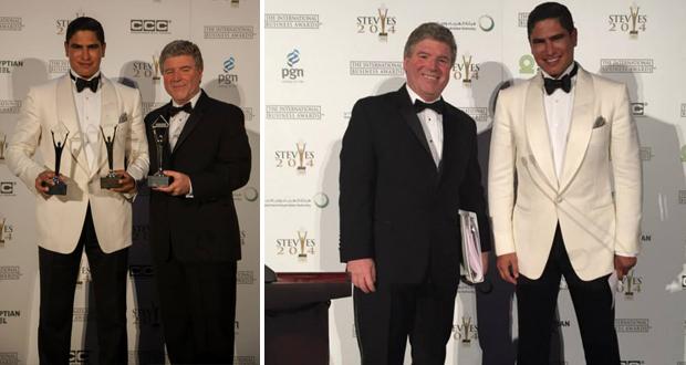 """مؤسسة """"ستيفيز"""" الامريكية تمنح أبوهشيمة الجائزة الذهبية"""
