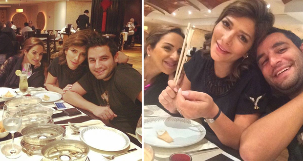 بالصور: أصالة وعشاء مميّز مع شقيقها في دبي