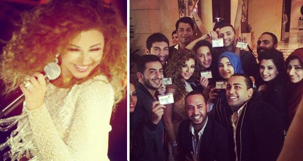 ميريام فارس أحيت أقوى الأعراس ومفاجأة من ميرياميين الأردن الذين إنتظروها لساعات