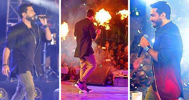 تامر حسني أشعل أجواء راس الحكمة والآلاف حاصروا مسرحه