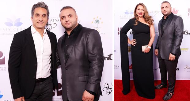 حفل تكريم ليلى علوي وباسم يوسف في أمريكا بتوقيع آدم عفارة