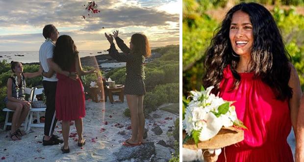 سلمى حايك عروسًا للمرة الثانية – بالصور