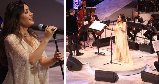 لطيفة تتألق وتطرب الجمهور في افتتاح مهرجان الموسيقى العربية