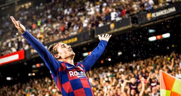 أول أهداف غريزمان مع برشلونة