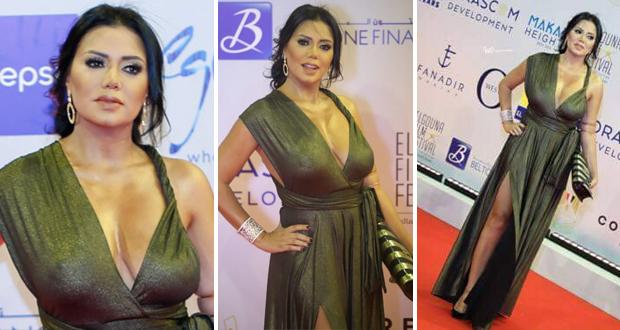 """رانيا يوسف تثير الضجة من جديد بفستانها في مهرجان """"الجونة"""""""