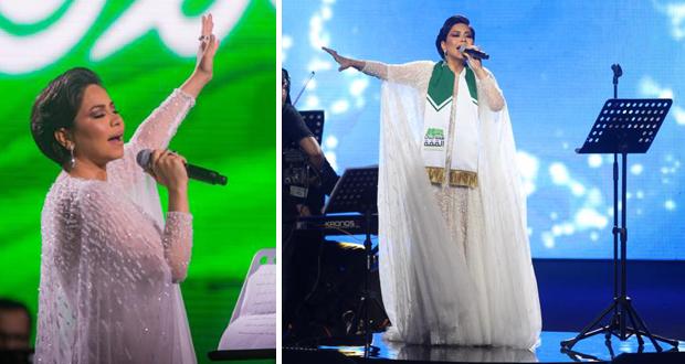 شيرين تبكي تأثرًا في أقوى حفلات اليوم الوطني السعودي الـ89 وتستعين بزوجها على المسرح