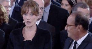 كارلا بروني مصدومة بعد دردشة مع فرنسوا هولاند.. ماذا أخبرها في جنازة الرئيس جاك شيراك؟