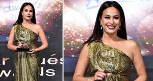 """هند صبري تفوز بجائزة أفضل ممثلة وتتألق في حفل """"دير جيست"""" – بالصور"""