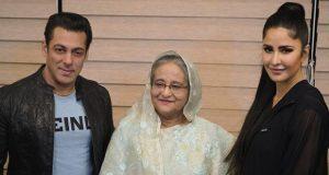 سلمان خان وكاترينا كيف يلتقيان رئيسة وزراء بنغلاديش