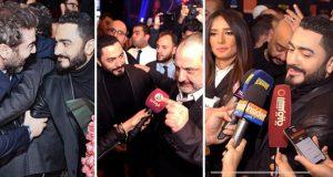 """تامر حسني يحتفل مع أسرة """"الفلوس"""" بالعرض الأوّل للفيلم – بالصور"""