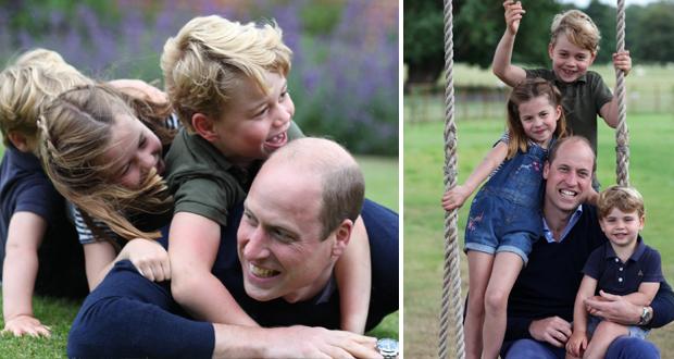 الأمير وليام يعترف بنفاد صبره مع أولاده أثناء الحجر