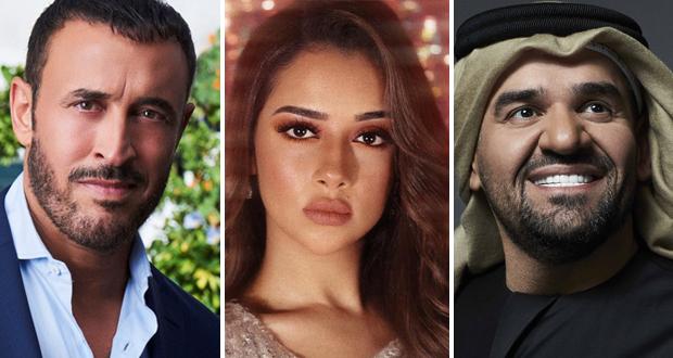 """بلقيس في """"ديو"""" غنائي مع كاظم الساهر.. وآخر مع حسين الجسمي"""