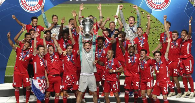 بايرن ميونخ بطلًا لدوري أبطال أوروبا لكرة القدم للمرة السادسة في تاريخه