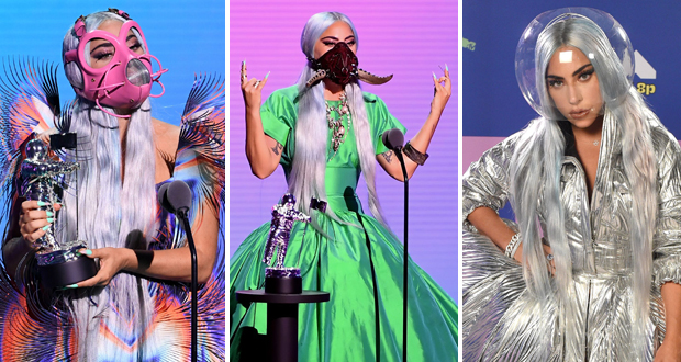 ليدي غاغا تسيطر على جواز MTV 2020.. وتشعل الحفل بإطلالاتها الغريبة