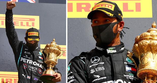 لويس هاميلتون يفوز في سباق بريطانيا