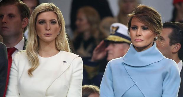 ابتسامة ميلانيا ترامب المصطنعة لـ إيفانكا تخطف الأضواء من السباق الرئاسي