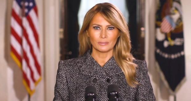 """من """"بيت الشعب"""".. السيدة الأولى تودع الأميركيين برسالة حب وسلام"""