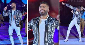 تامر حسني يُبهر جمهور بطولة كأس العالم لكرة اليد.. بعرض عالمي